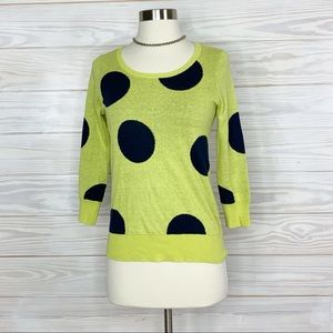 Anthropologie HWR sweater Polkadot size XS